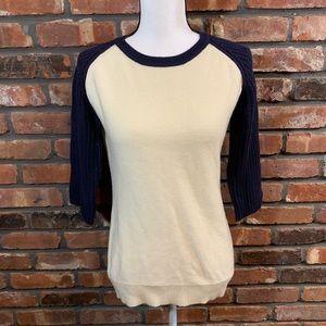 De Rigueur Provisions Wool Blend Raglan Sweater